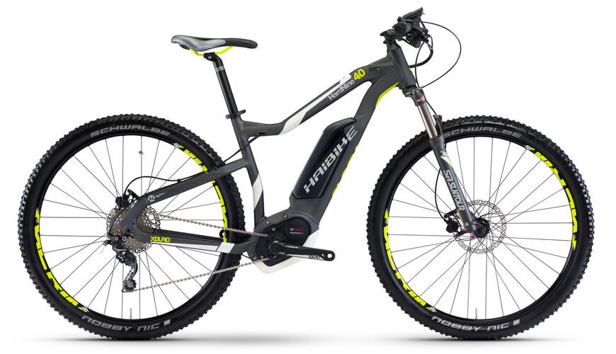 "HAIBIKE Xduro HardNine 4.0 Elcykel MTB Hardtail 29"" grå"